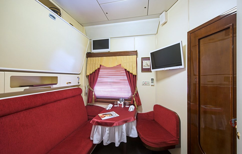 Grand Express Train between Moscow and St. Petersburg