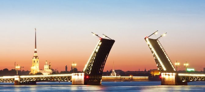 The White Nights festival in St. Petersburg
